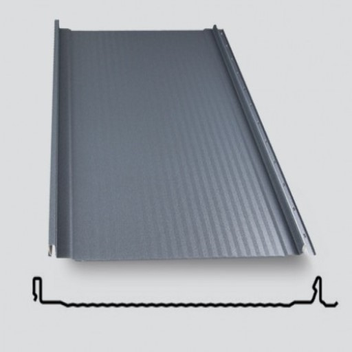 panel dachowy na rąbek